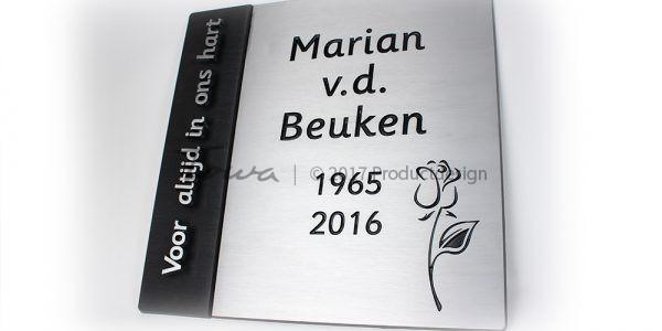 Gedenkplatte aus Aluminium