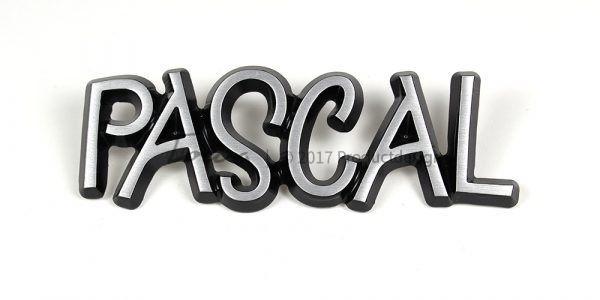 Aluminium-schriftarten Pascal