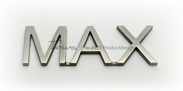 Edelstahl-Schriftarten Max