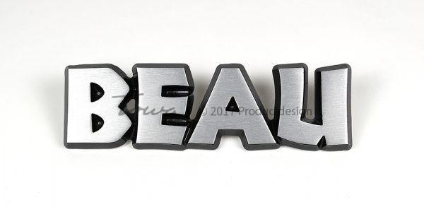 Aluminium-schriftarten Beau
