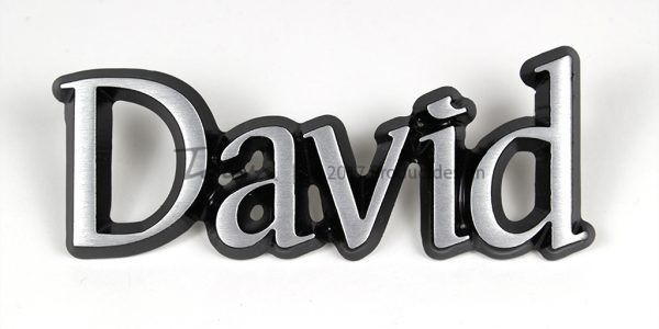 Aluminium-schriftarten David
