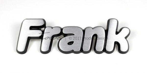 Aluminium-schriftarten Frank