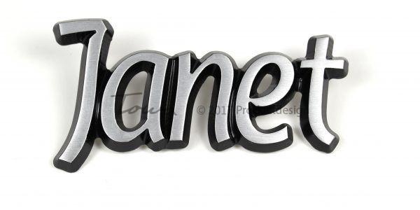 Aluminium-schriftarten Janet