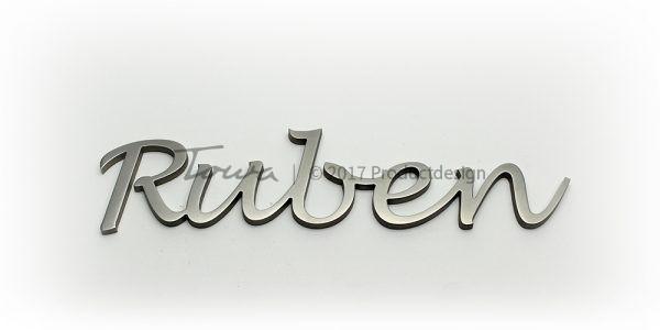 Edelstahl-Schriftarten Ruben