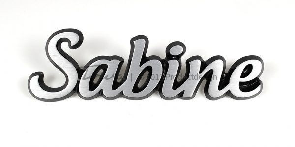 Aluminium-schriftarten Sabine