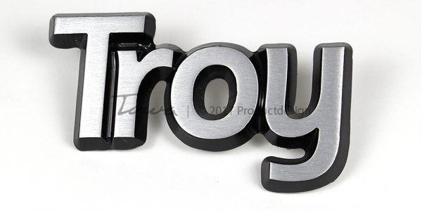 Aluminium-schriftarten Troy